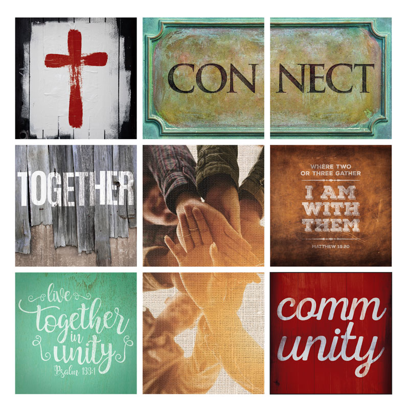 Wall Art, Church Theme, Mod General Connect Set, 24 x 24