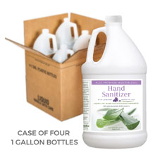 Liquid & Gel Blend Aloe Sanitizer for Touchless Dispensers in 1 Gallon Containers (Case of 4)