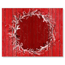 Red Winter Wreath