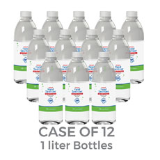 Liquid Hand Sanitizer 75 Percent Alcohol 1 Liter Refill Bottles (Case of 12)