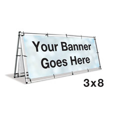 A-frame Banner Stand - 3 x 8