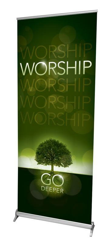 Banners, Ministry, Deeper Roots Worship Horizontal, 2'7 x 6'7