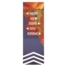 Chevron Welcome Fall Directional