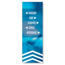 Chevron Welcome Blue Directional