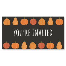 Pumpkins Hand Drawn You're Invited