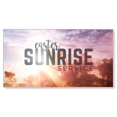 Easter Sunrise Clouds Service