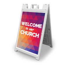 Geometric Bold Welcome To Our Church