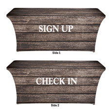 Rustic Charm Sign Up Check In