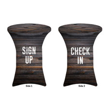 Dark Wood Sign Up Check In
